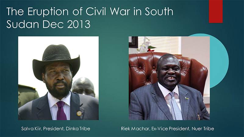 The Eruption of Civil War in South Sudan Dec 2013