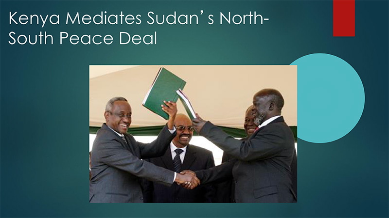 Kenya Mediates Sudan's North- South Peace Deal
