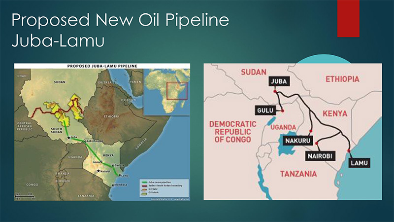 Proposed New Oil Pipeline Juba-Lamu